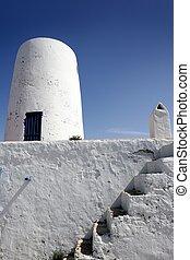 Formentera near Ibiza island white houses Mediterranean...