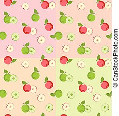 Seamless pattern with apples. Simply change