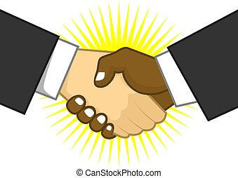 shake hand - two men shaking hands in agreement