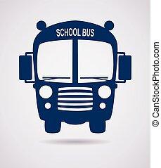 vector school bus icon or symbol