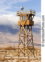 Guard Tower Searchlight Manzanar National Historic Site