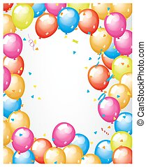 Colorful Balloons Frame