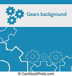 Vector design with gears.