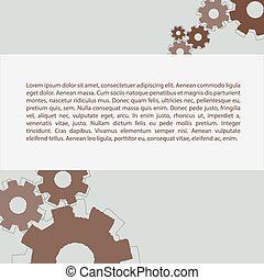 Gears pattern with text - Gears pattern with some text....
