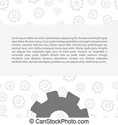 Gears pattern with text - Gears pattern with some text...