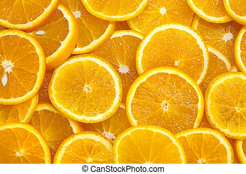 background of sliced oranges