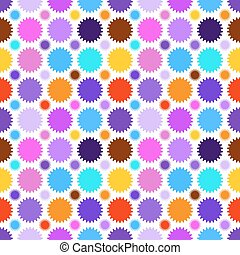 Colorful star seamless pattern. Vector illustration