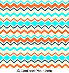 Ethnic tribal zig zag seamless pattern. Vector illustration...