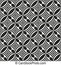 Black and white abstract seamless pattern. Vector...