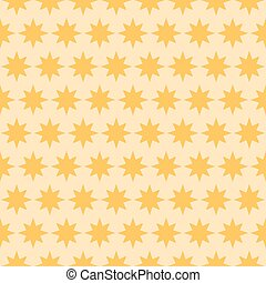 Holiday orange star seamless pattern. Vector illustration