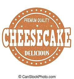 Cheesecake stamp - Cheesecake grunge rubber stamp on white...