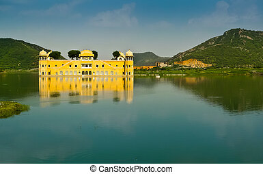 Jal Mahal palace horizontal view - Jal Mahal, the palace on...