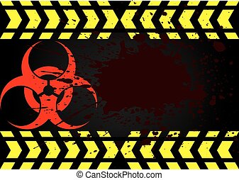bio hazard symbol dirty blood