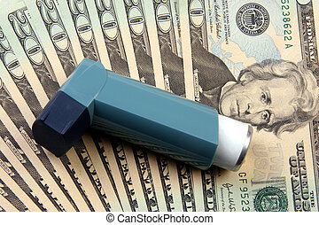 Cost of asthma treatment - Inhaler used for asthma treatment...