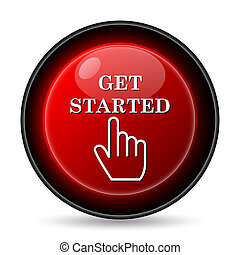 Get started icon Internet button on white background