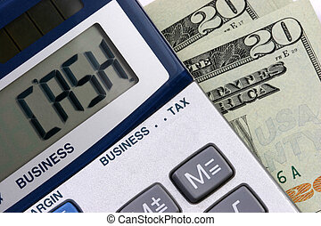 CASH calculator - A calculator with the word CASH on display...