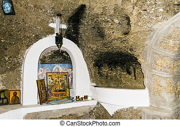 Greek Monastery Religious Pictures - Religious pictures in a...