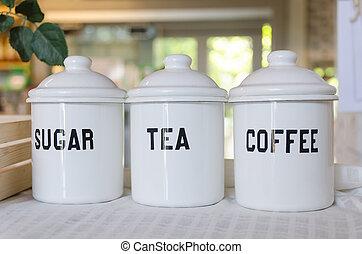 tigela, de, café, chá, e,...