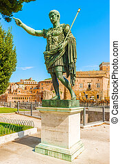 Statue of Emperor Augustus in Rome - The statue of the first...