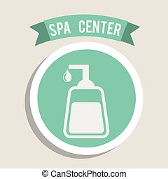 spa center design , vector illustration