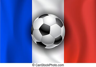 France flag with soccer balls