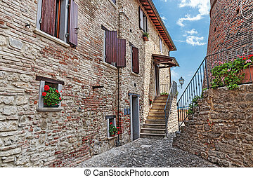Old cobbled street in Italy