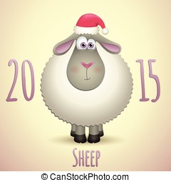 Cute sheep for a Happy New Year 2015