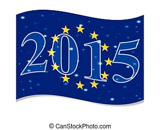 The main flag of the New Year 2015 New Year flag of the...