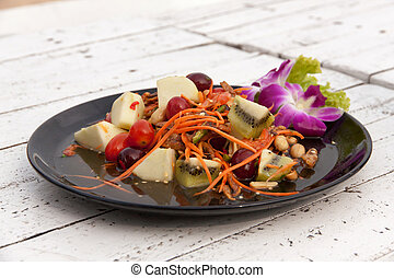 Mixed fruit salad thai style 01 - Mixed fruit salad thai...