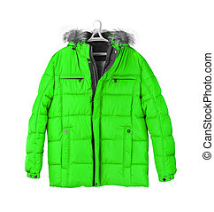 Winter jacket isolated on white background