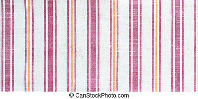 Striped fabric - Linen cloth with colored vertical stripes...