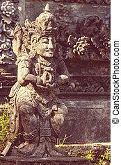 decoración, en, Bali,