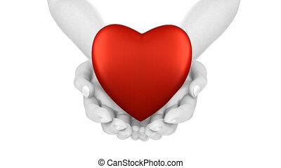 Hands with Heart Loop, alpha matte.