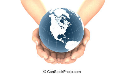 EARTH in HANDS LOOP, alpha matte