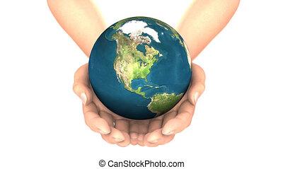 EARTH in HANDS LOOP  - EARTH in HANDS LOOP, alpha matte