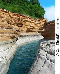 channel - Greece Island of Corfu