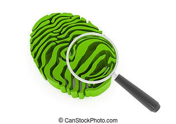 magnifying finger print