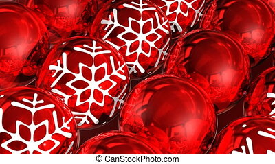 Christmas balls background - Christmas red balls Looped...