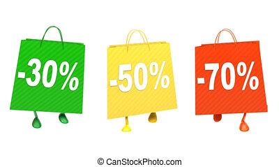 Walking  shopping bags, loop