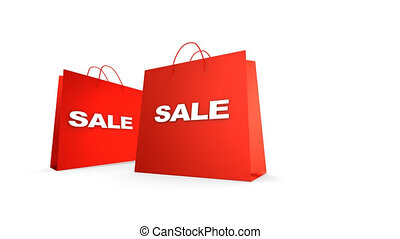 Shopping Bags, zoom in. - Shopping Bags with Sale text, luma...