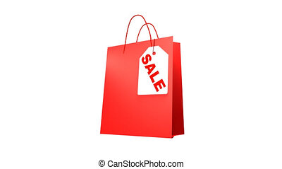 Shopping Bag with Sale text. - Shopping Bag with Sale text,...