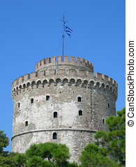white tower - The white tower at Thessaloniki city in Greece