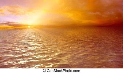 Sea Sunset,loop.