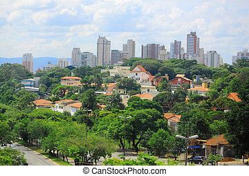 view of Sao Paolo, Brazil - view of one of districts of Sao...