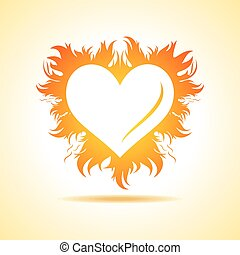 valentine day card with fire - Abstract valentine day card...