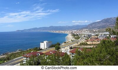 View of the coast of Alanya in Turkey