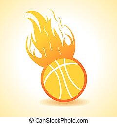 Fire ball concept stock vector