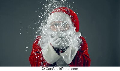 Christmas Fairy Tale - Portrait of man in Santa Claus...