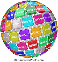 Resource Word Tiles Globe Important Information Access...