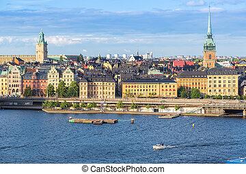 Gamla Stan, the old part of Stockholm, Sweden - STOCKHOLM,...